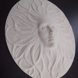 White resin sculpture